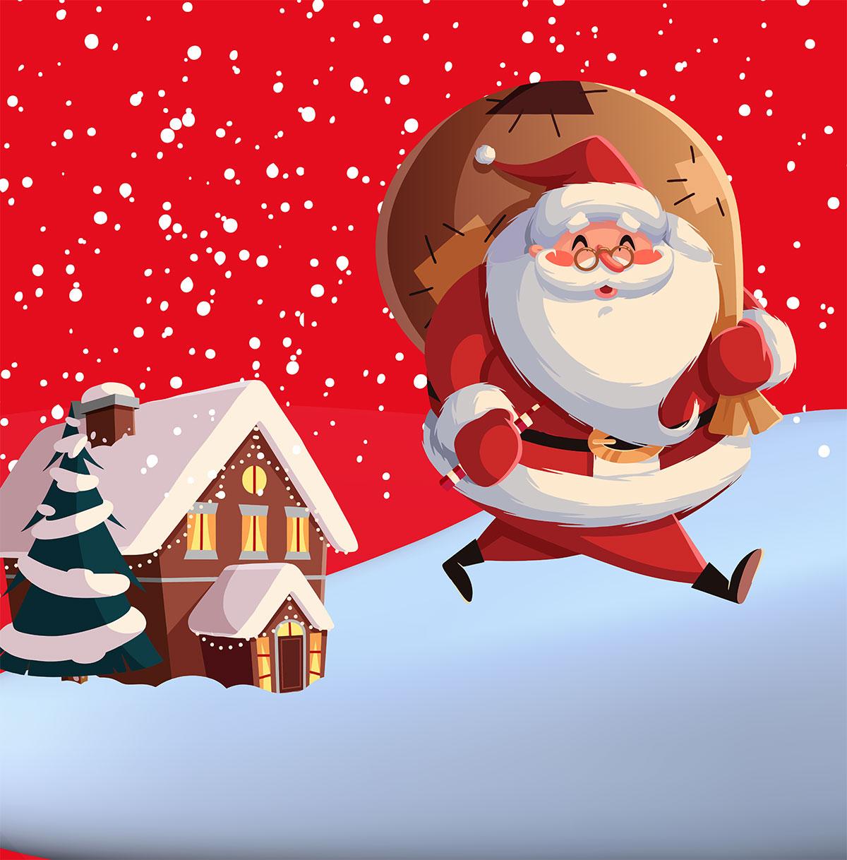 Ven a ver a Papá Noel y ¡hazte una foto con él!